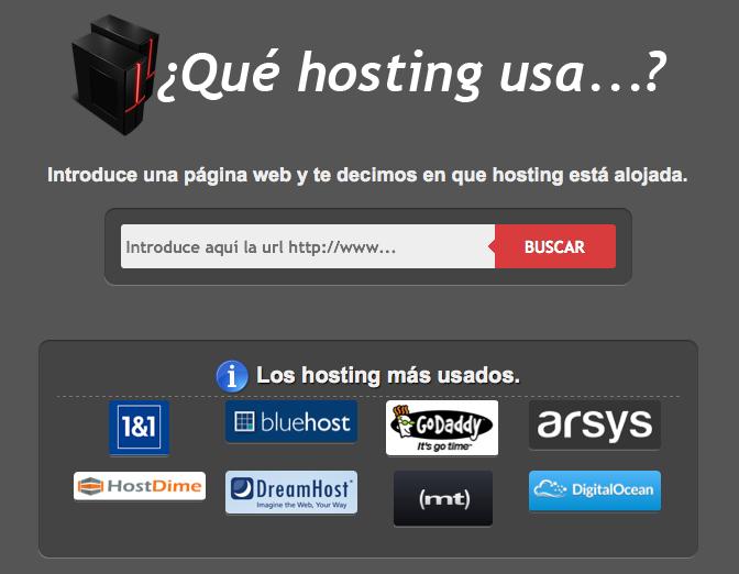 Como saber el hosting de una pagina web