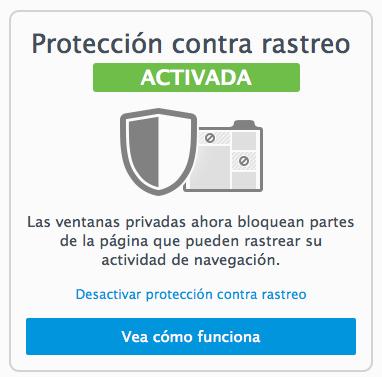 navegacion privada evitar anuncios webs visitadas